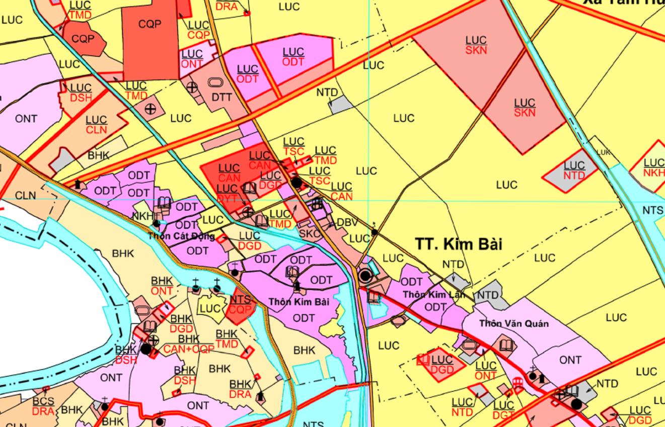 Bản đồ quy hoạch giao thông thị trấn Kim Bài, Thanh Oai, Hà Nội - Ảnh 2.