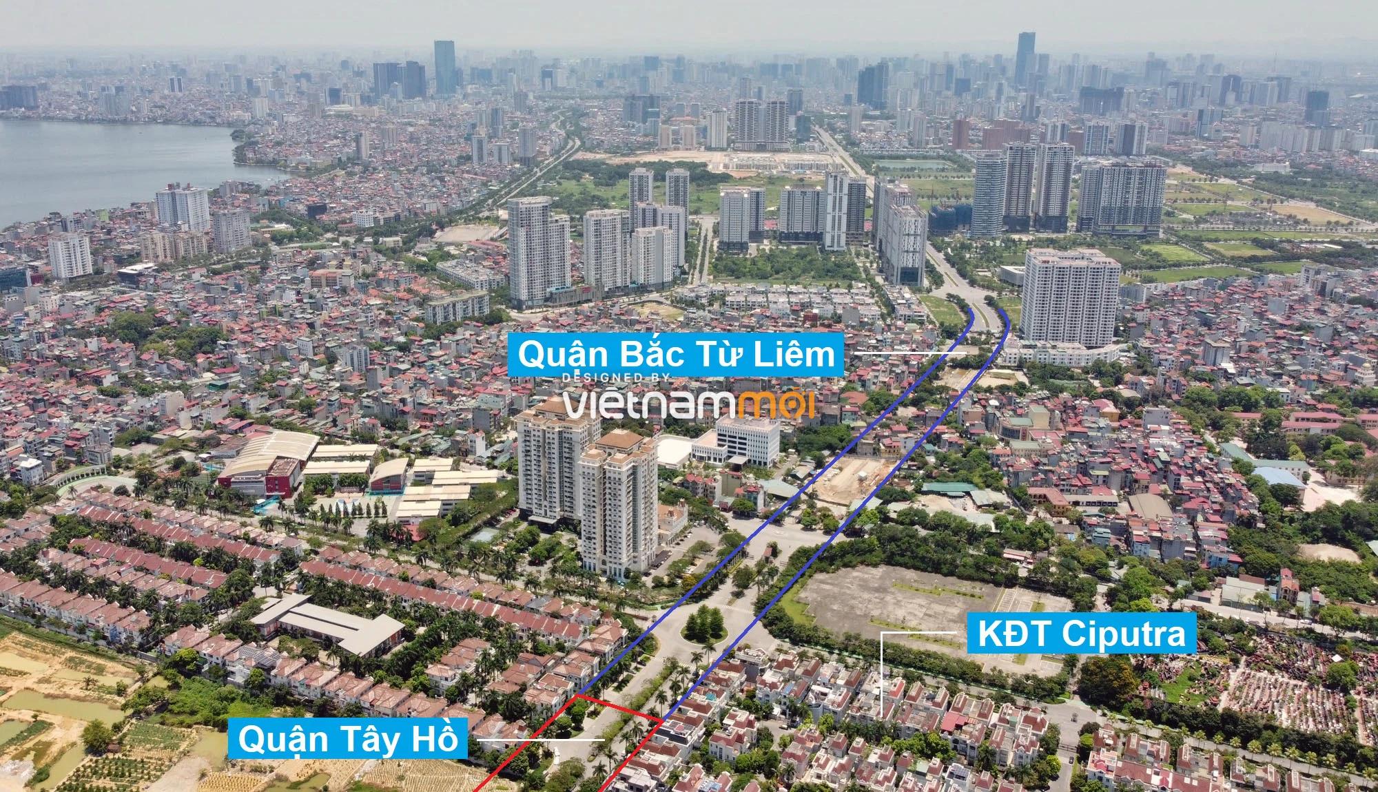Vành đai 2,5 sẽ mở theo quy hoạch qua quận Tây Hồ, Hà Nội - Ảnh 1.