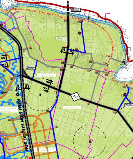 Bản đồ quy hoạch giao thông xã Lê Thanh, Mỹ Đức, Hà Nội - Ảnh 2.