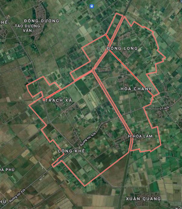 Bản đồ quy hoạch sử dụng đất xã Hoà Lâm, Ứng Hoà, Hà Nội - Ảnh 1.