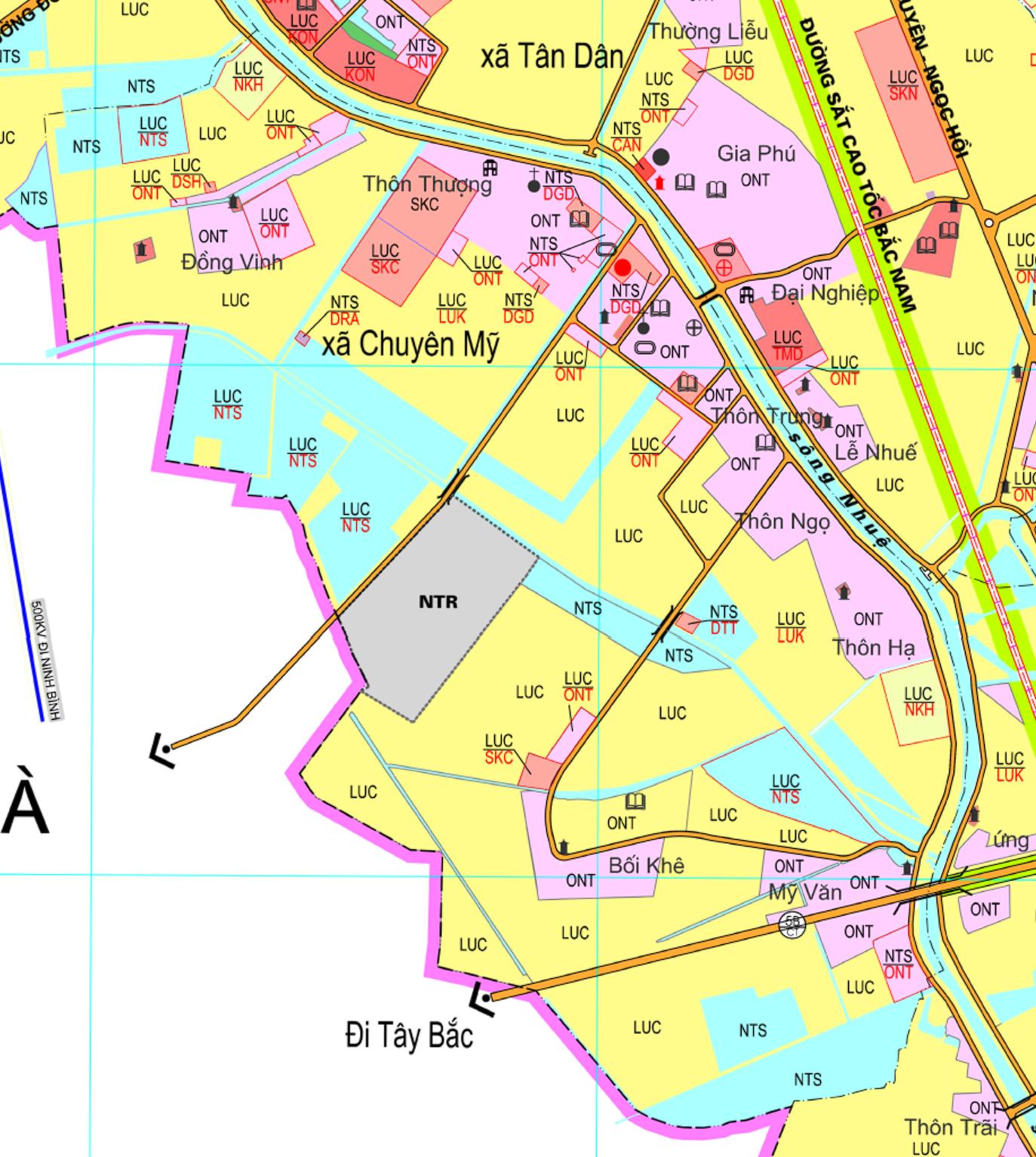 Bản đồ quy hoạch sử dụng đất xã Chuyên Mỹ, Phú Xuyên, Hà Nội - Ảnh 2.