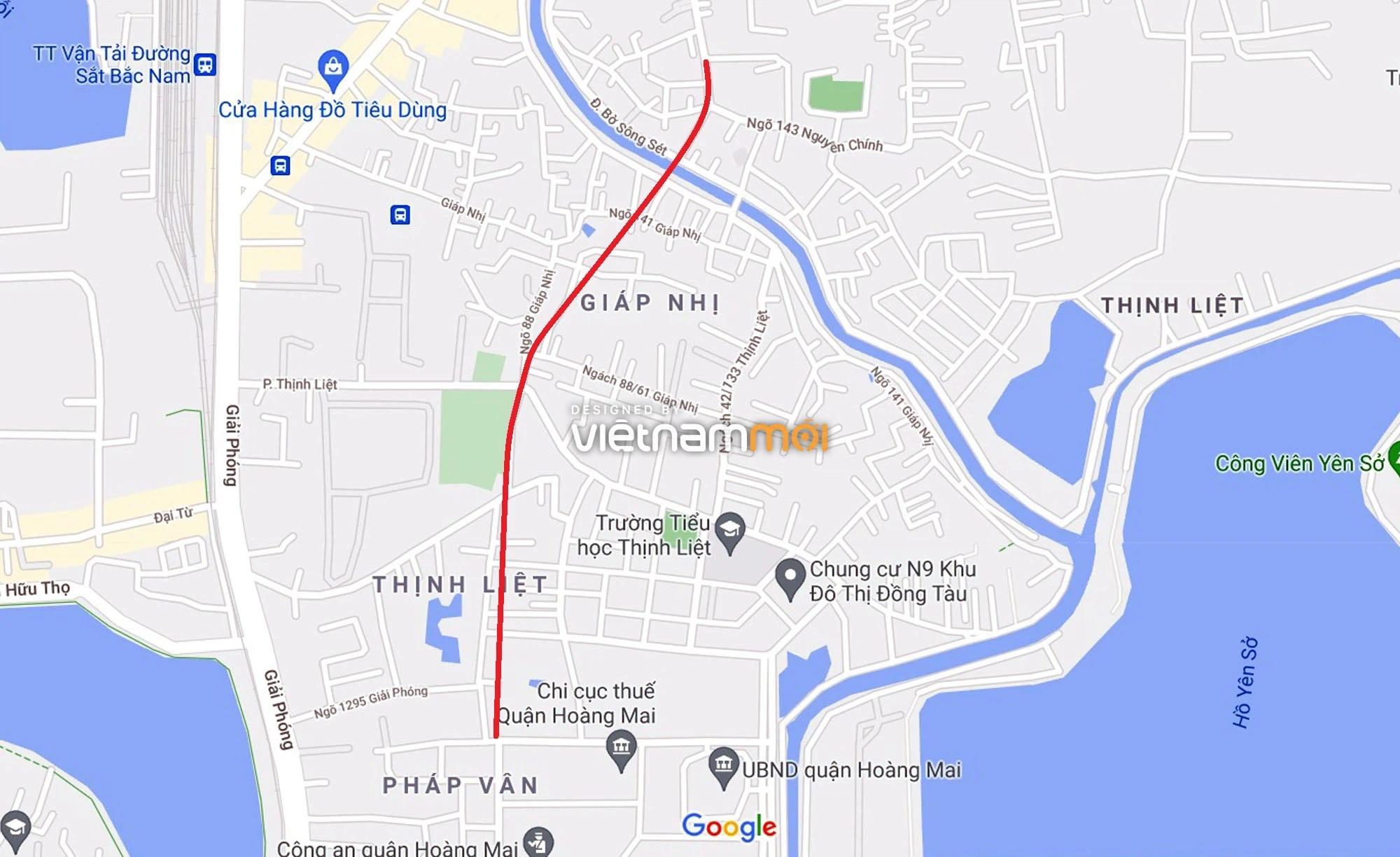 Đường sẽ mở theo quy hoạch ở phường Thịnh Liệt, Hoàng Mai, Hà Nội (phần 5) - Ảnh 1.