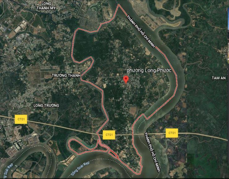 Đường sẽ mở theo quy hoạch ở phường Long Phước, quận 9, Thủ Đức, TP HCM (phần 4) - Ảnh 1.