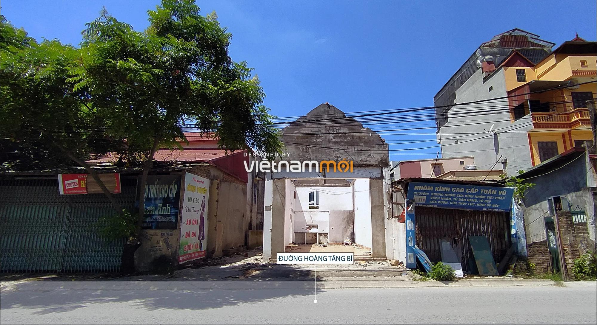 Toàn cảnh tuyến đường nối Hoàng Tăng Bí - Phố Viên đang mở theo quy hoạch ở Hà Nội - Ảnh 4.