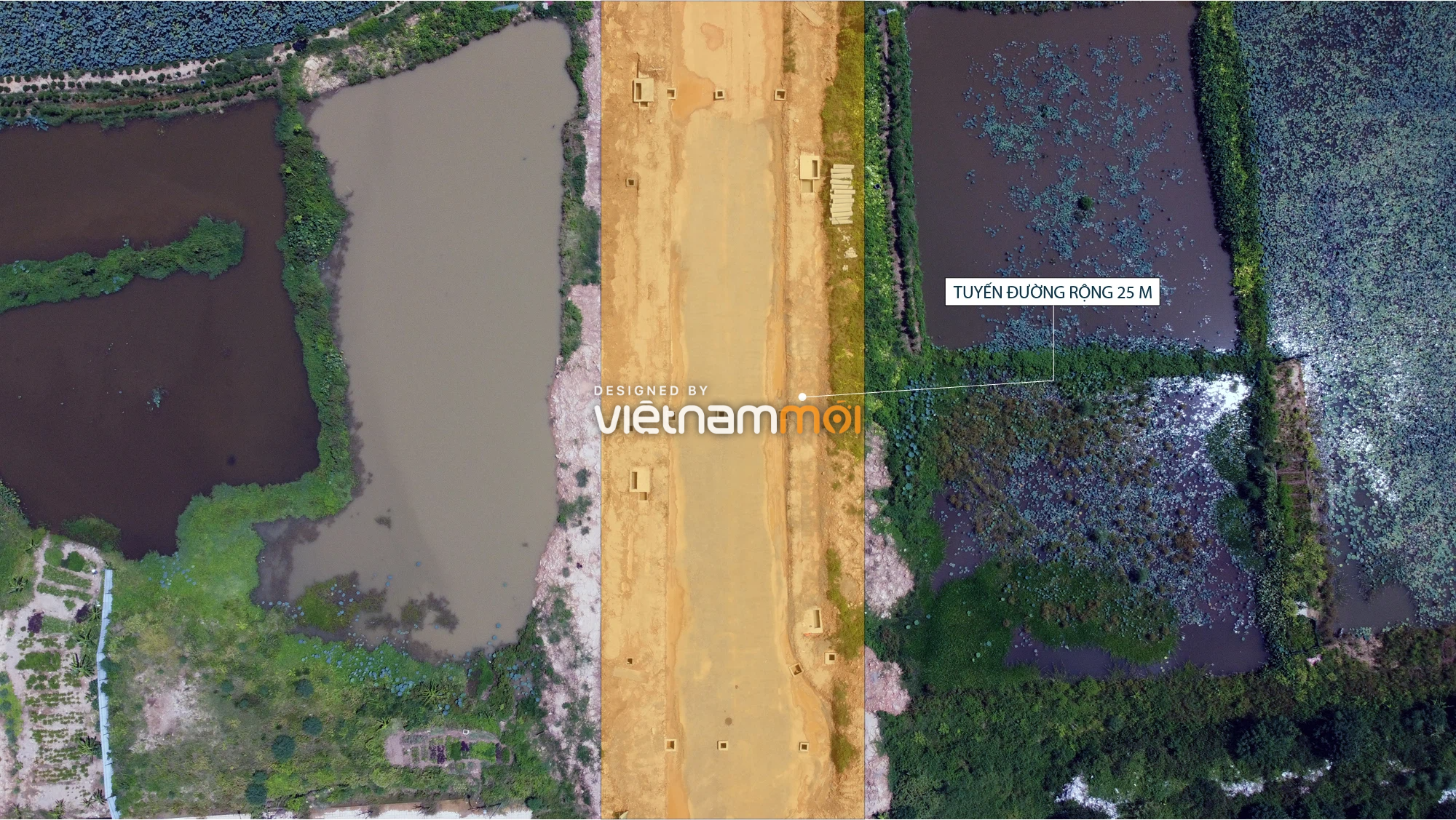 Toàn cảnh tuyến đường nối Hoàng Tăng Bí - Phố Viên đang mở theo quy hoạch ở Hà Nội - Ảnh 8.
