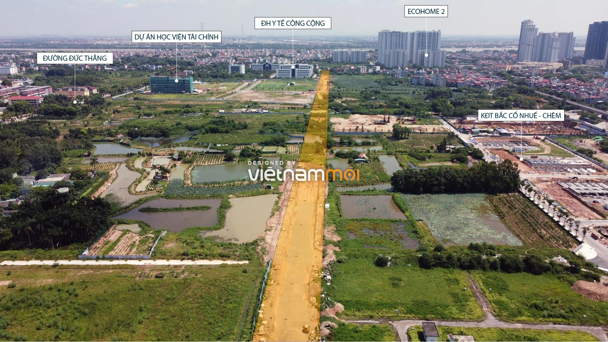 Toàn cảnh tuyến đường nối Hoàng Tăng Bí - Phố Viên đang mở theo quy hoạch ở Hà Nội - Ảnh 10.