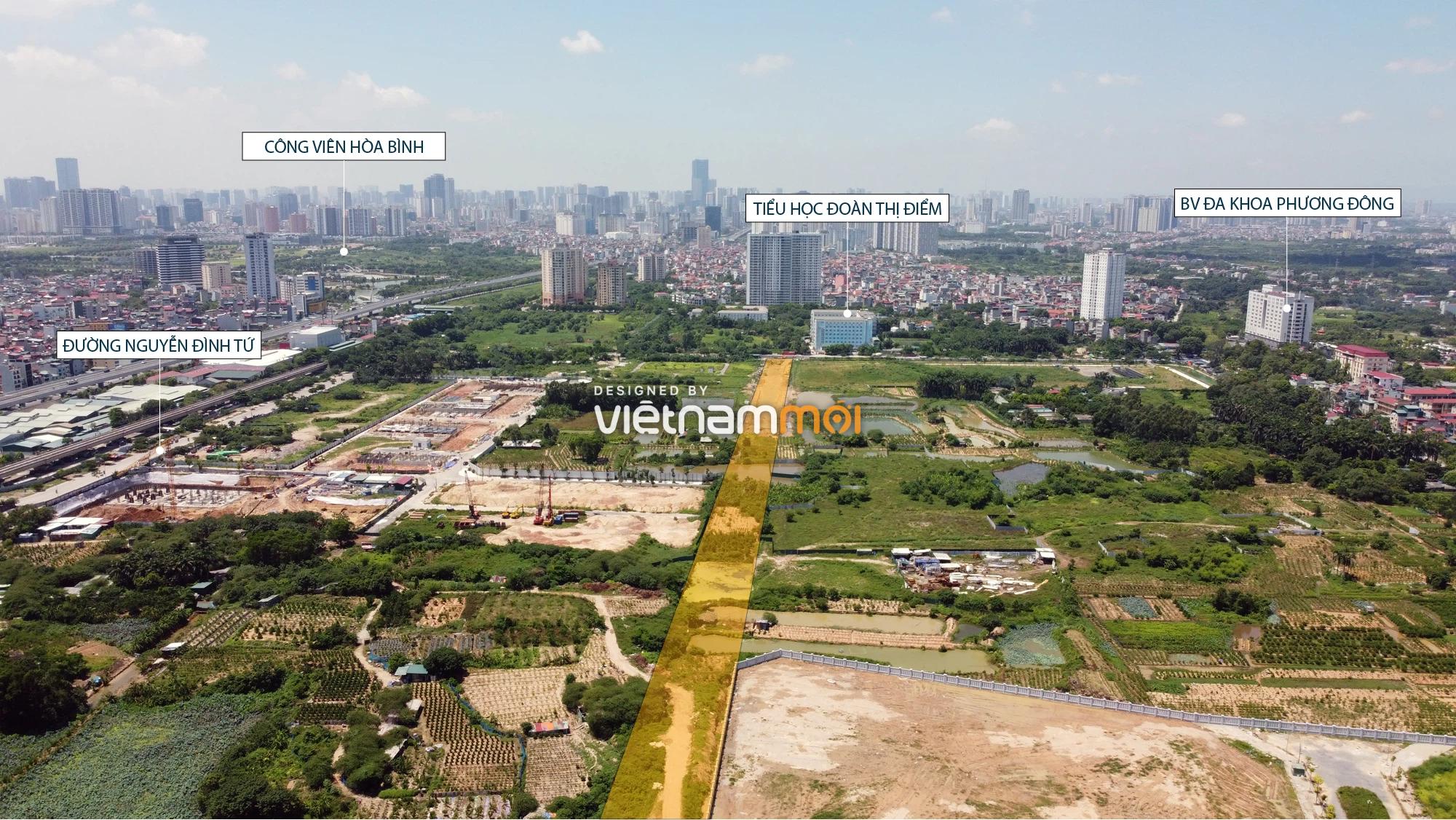 Toàn cảnh tuyến đường nối Hoàng Tăng Bí - Phố Viên đang mở theo quy hoạch ở Hà Nội - Ảnh 12.