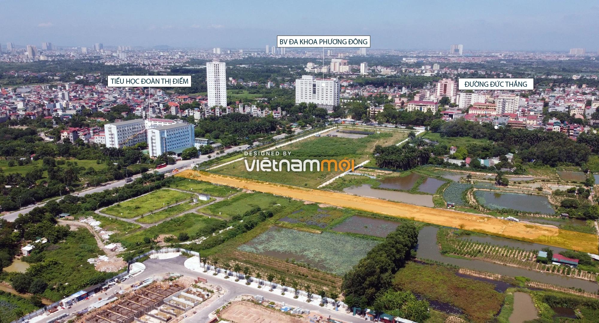 Toàn cảnh tuyến đường nối Hoàng Tăng Bí - Phố Viên đang mở theo quy hoạch ở Hà Nội - Ảnh 14.
