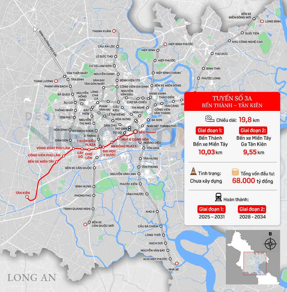 8 tuyến đường sắt đô thị của TP HCM: Metro số 1 chạy thương mại năm 2022, Metro số 2 GPMB xong trong năm nay - Ảnh 8.