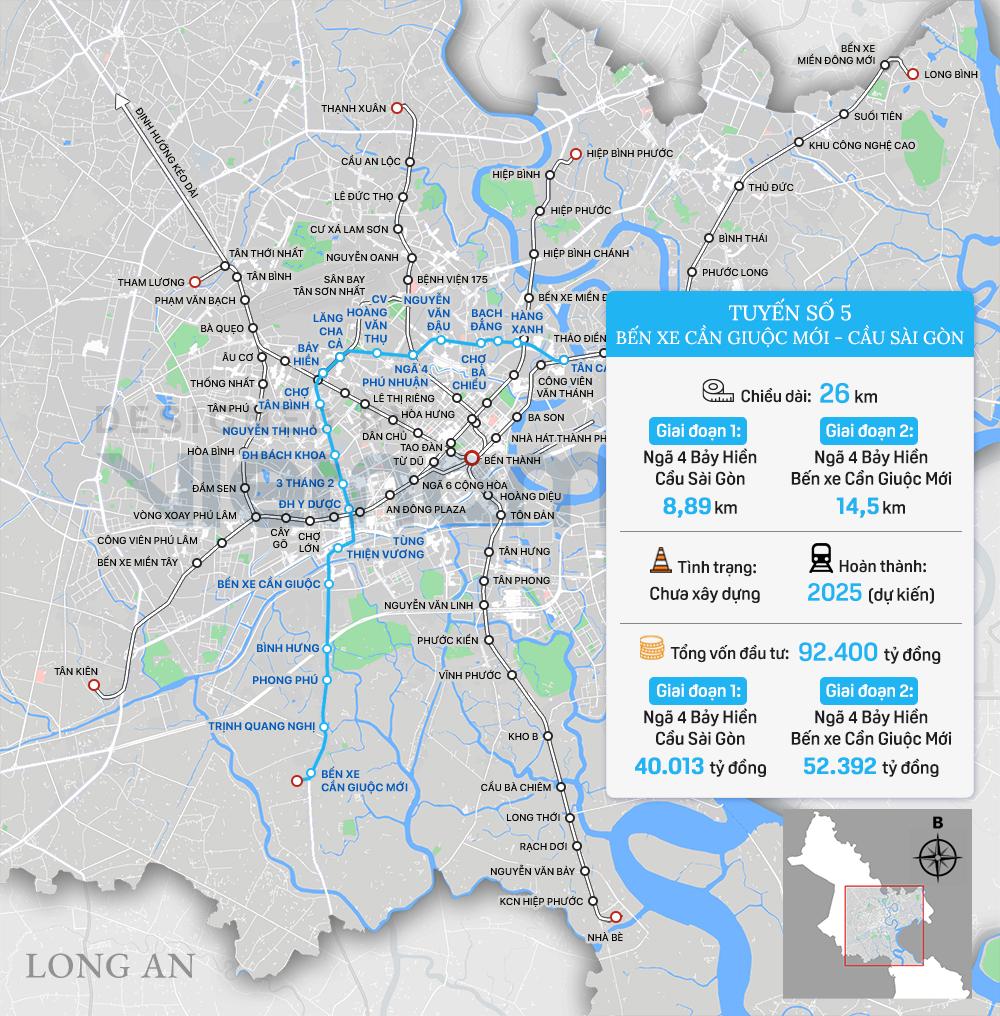 8 tuyến đường sắt đô thị của TP HCM: Metro số 1 chạy thương mại năm 2022, Metro số 2 GPMB xong trong năm nay - Ảnh 11.