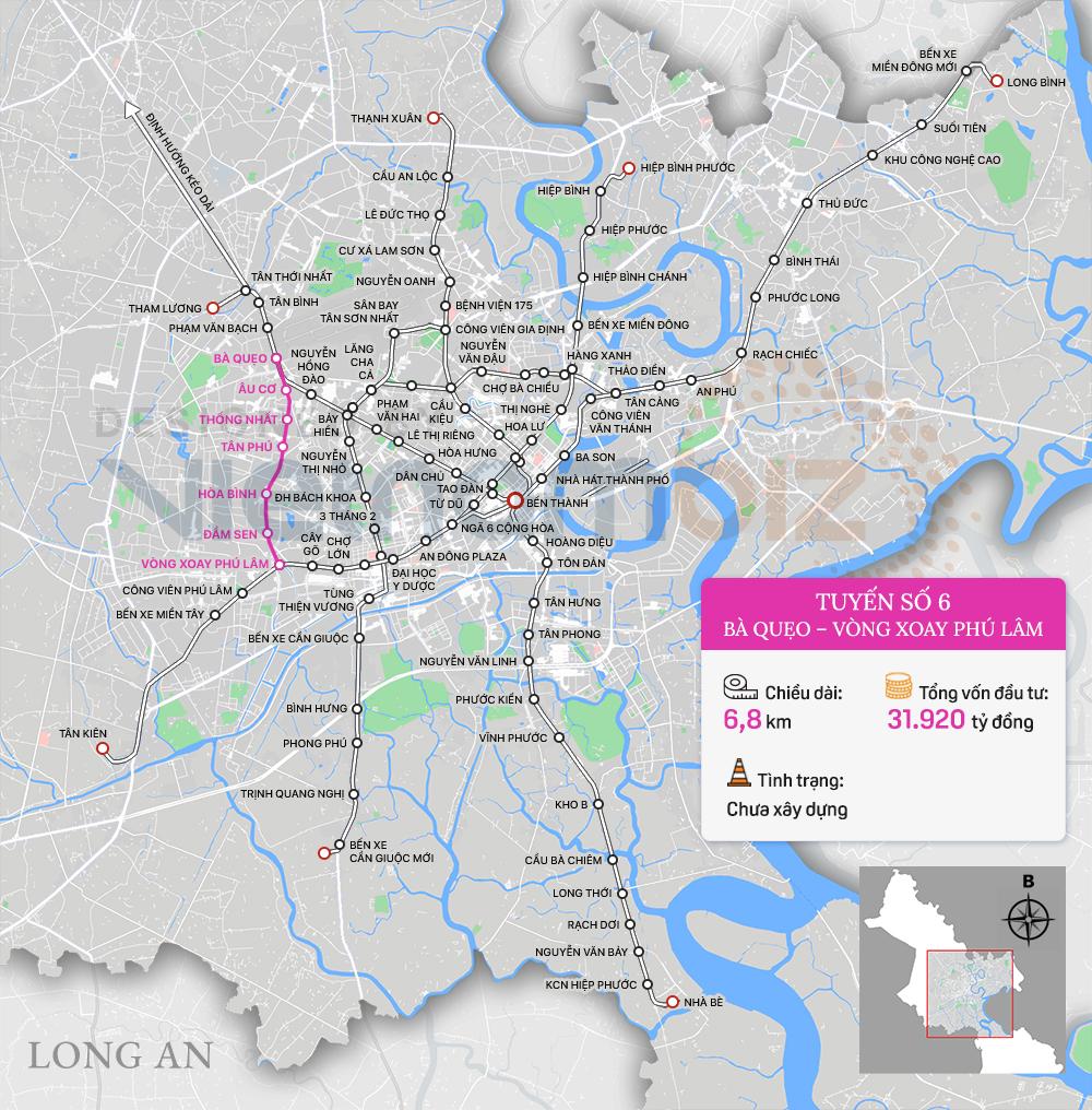 8 tuyến đường sắt đô thị của TP HCM: Metro số 1 chạy thương mại năm 2022, Metro số 2 GPMB xong trong năm nay - Ảnh 12.