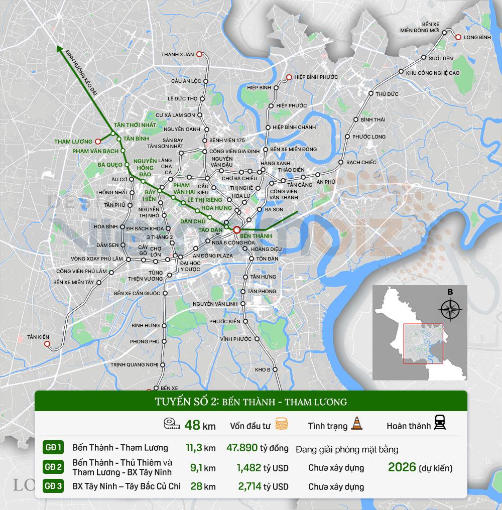 8 tuyến đường sắt đô thị của TP HCM: Metro số 1 chạy thương mại năm 2022, Metro số 2 GPMB xong trong năm nay - Ảnh 6.