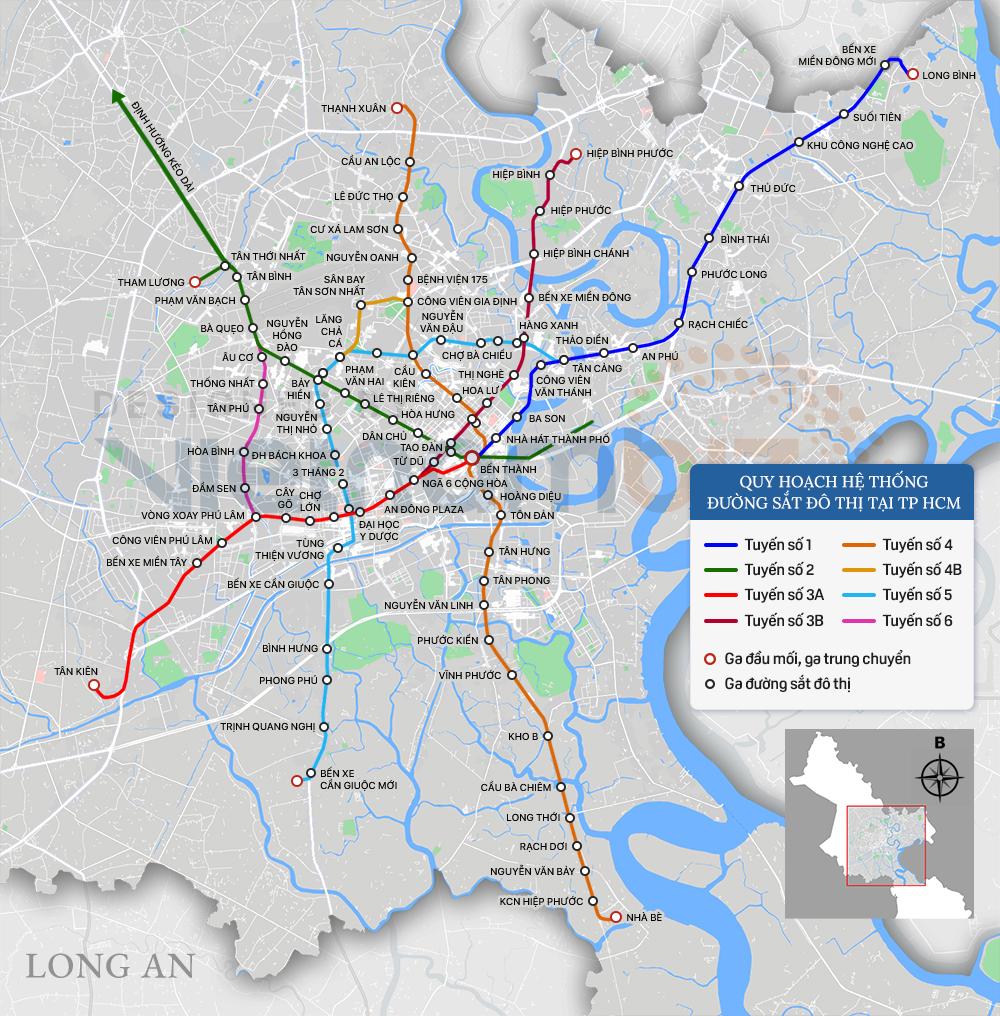 8 tuyến đường sắt đô thị của TP HCM: Metro số 1 chạy thương mại năm 2022, Metro số 2 GPMB xong trong năm nay - Ảnh 1.
