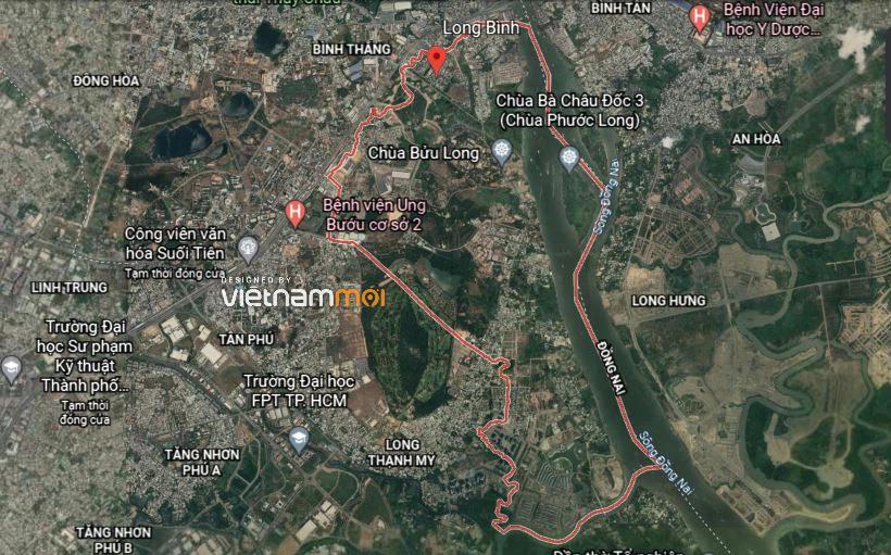 Đường sẽ mở theo quy hoạch ở phường Long Bình, quận 9, Thủ Đức, TP HCM - Ảnh 1.