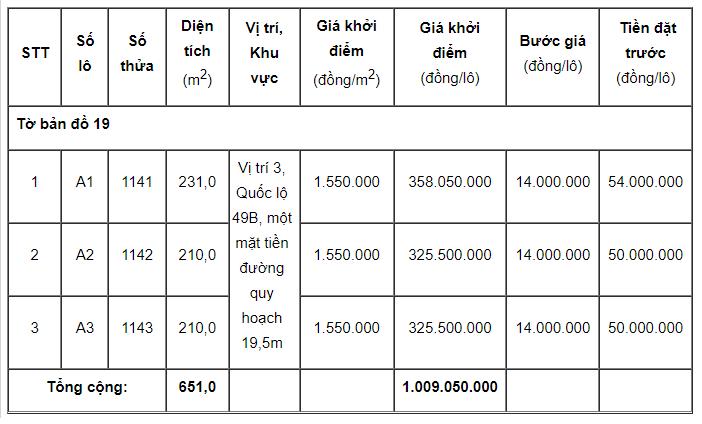 Thừa Thiên Huế đấu giá 6 lô đất tại Phong Điền, khởi điểm từ 66,15 triệu đồng/lô - Ảnh 2.