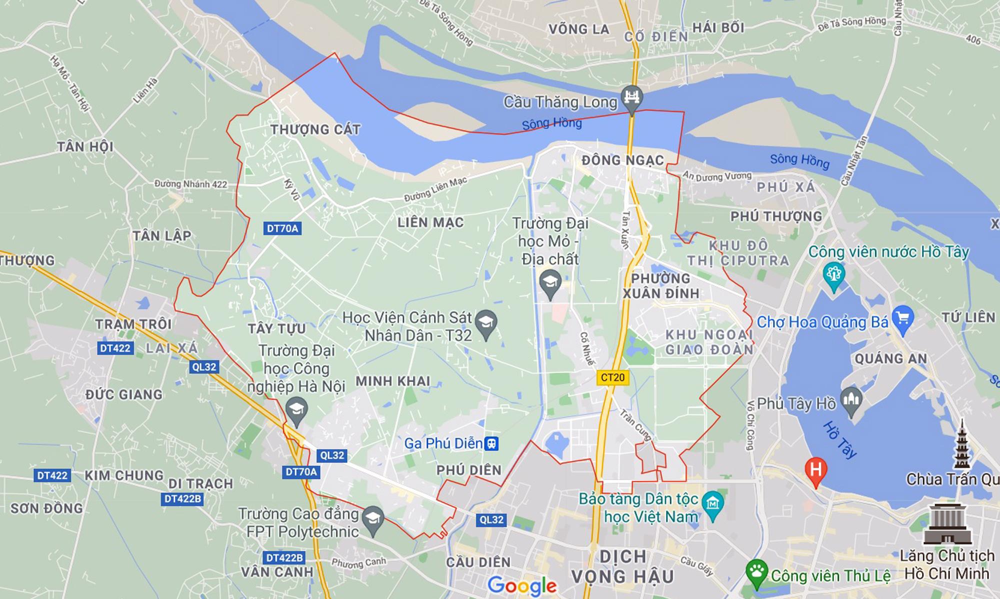 Những khu đất sắp thu hồi để mở đường ở quận Bắc Từ Liêm, Hà Nội (phần 3) - Ảnh 1.