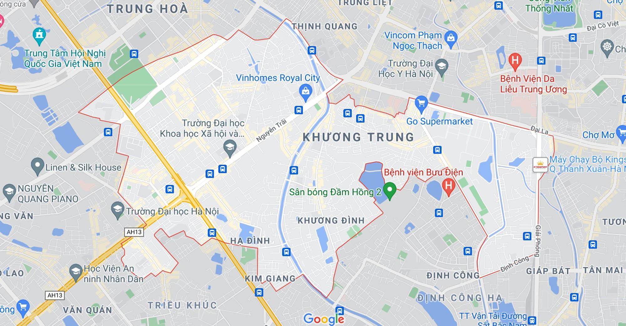Những khu đất sắp thu hồi để mở đường ở quận Thanh Xuân, Hà Nội (phần 1) - Ảnh 1.