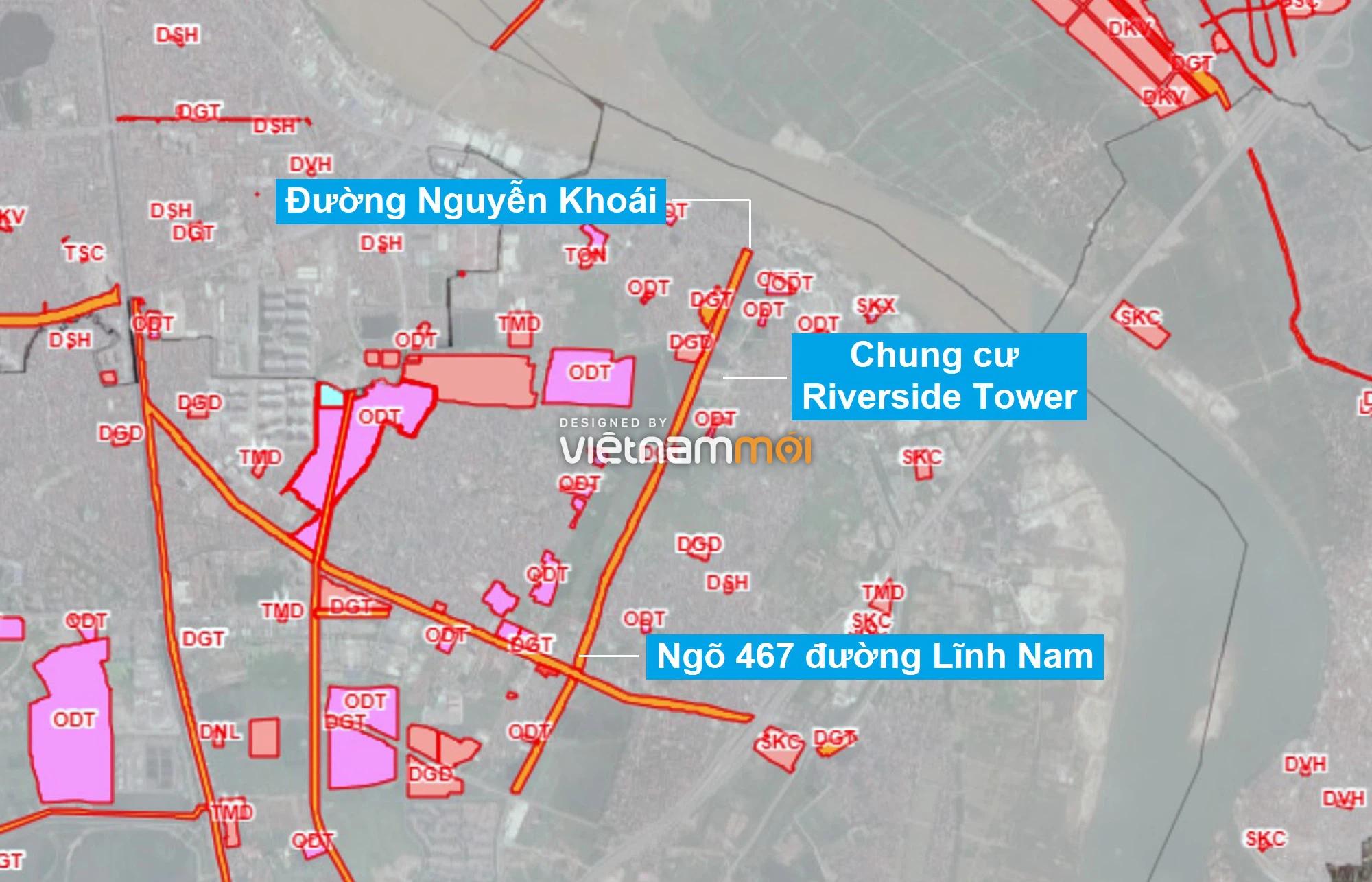 Những khu đất sắp thu hồi để mở đường ở quận Hoàng Mai, Hà Nội (phần 1) - Ảnh 1.