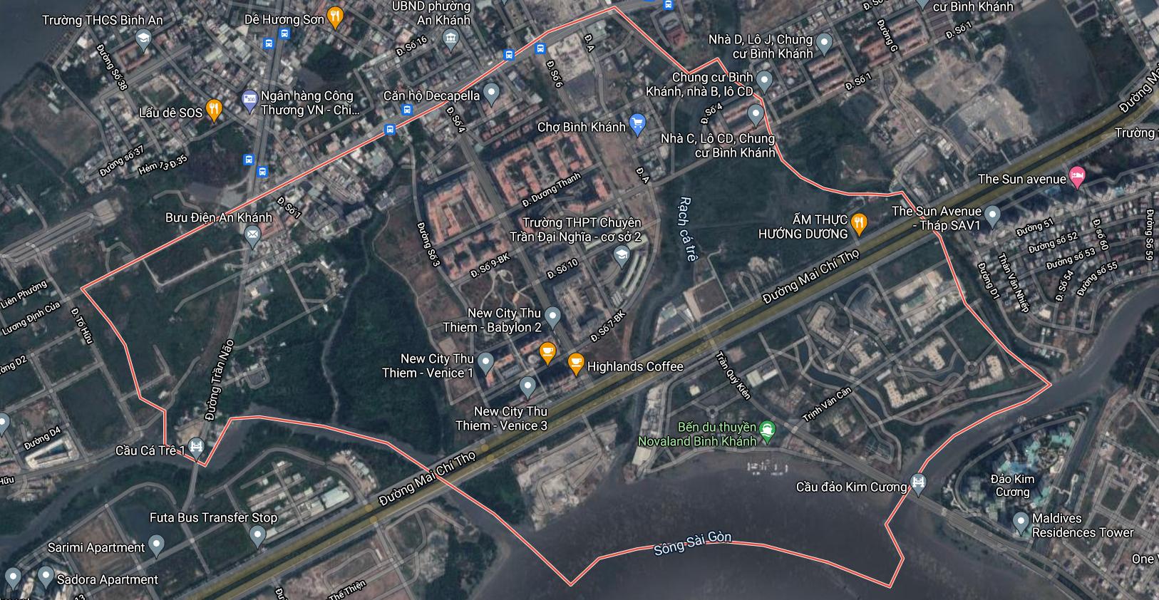 Đường sẽ mở ở phường Bình Khánh (cũ), quận 2, TP Thủ Đức - Ảnh 1.