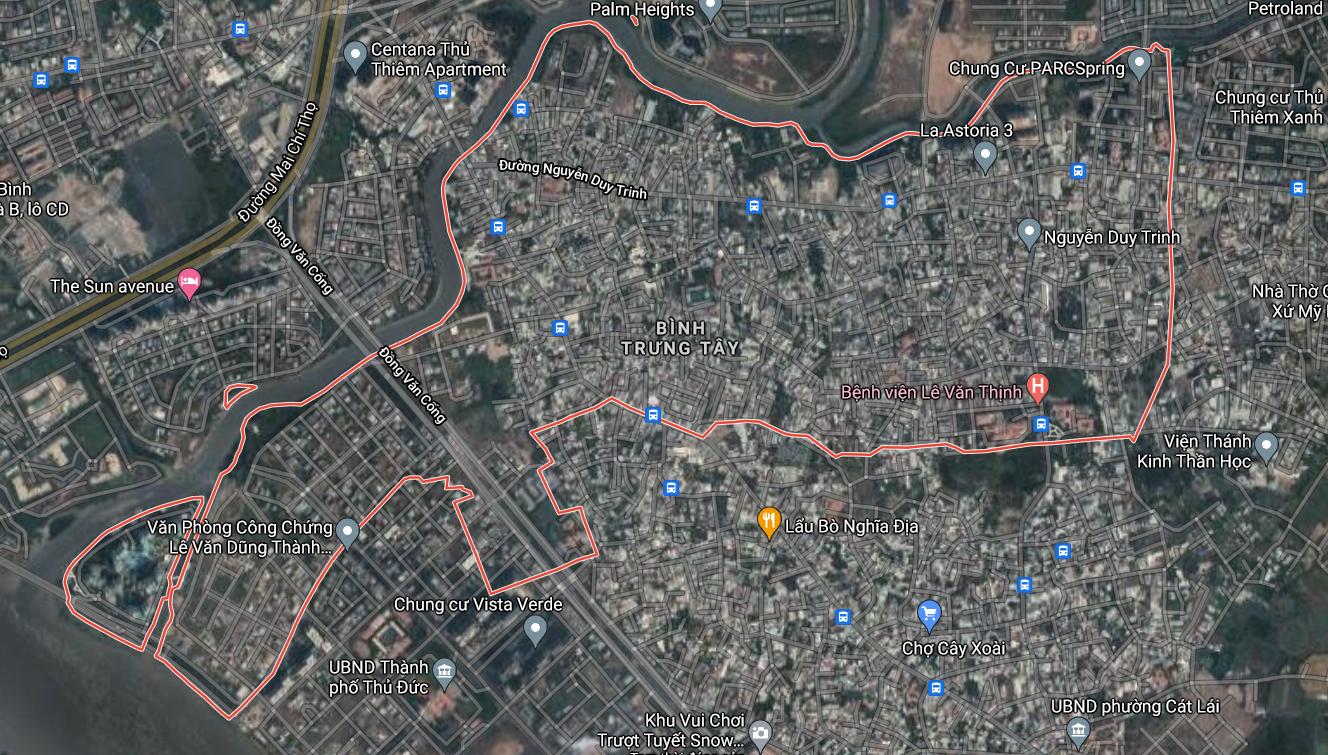 Bản đồ quy hoạch giao thông phường Bình Trưng Tây, quận 2, TP Thủ Đức - Ảnh 1.