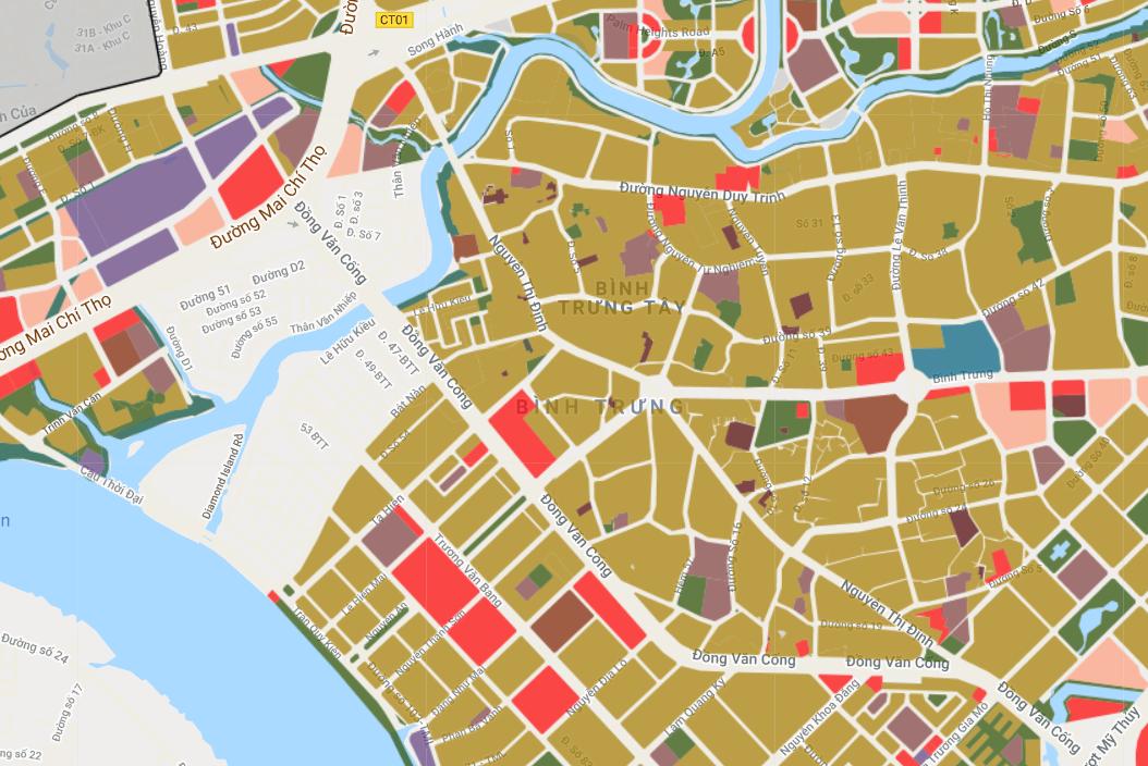 Bản đồ quy hoạch giao thông phường Bình Trưng Tây, quận 2, TP Thủ Đức - Ảnh 2.