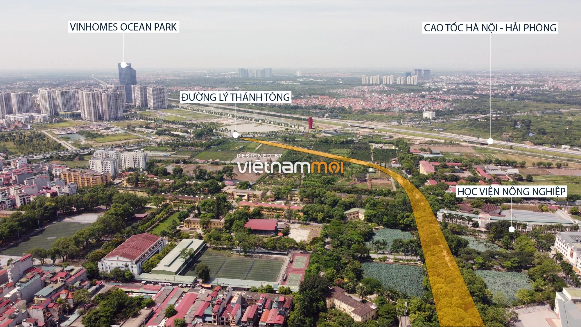 Toàn cảnh tuyến đường từ Vinhomes Ocean Park đến QL5 qua Học viện Nông nghiệp đang mở theo quy hoạch ở Hà Nội - Ảnh 1.