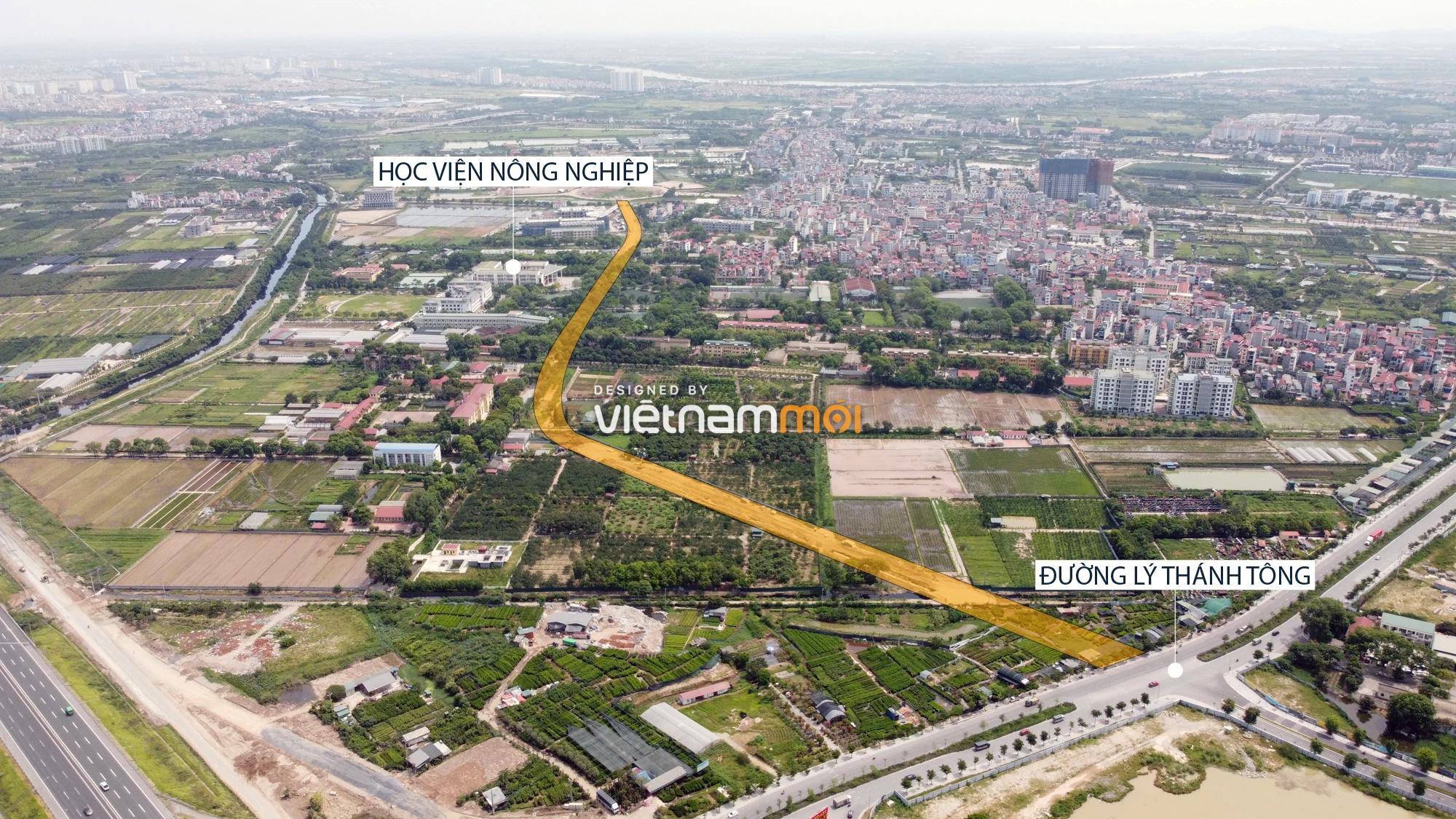 Toàn cảnh tuyến đường từ Vinhomes Ocean Park đến QL5 qua Học viện Nông nghiệp đang mở theo quy hoạch ở Hà Nội - Ảnh 2.