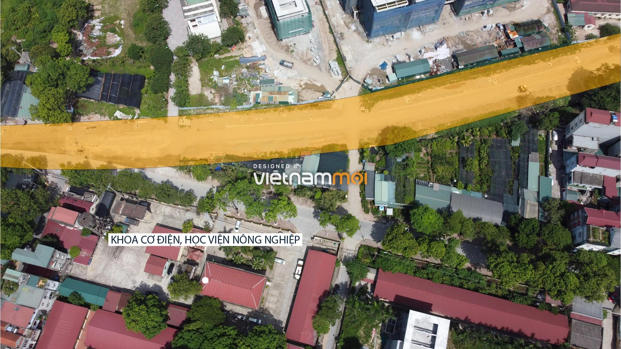 Toàn cảnh tuyến đường từ Vinhomes Ocean Park đến QL5 qua Học viện Nông nghiệp đang mở theo quy hoạch ở Hà Nội - Ảnh 5.