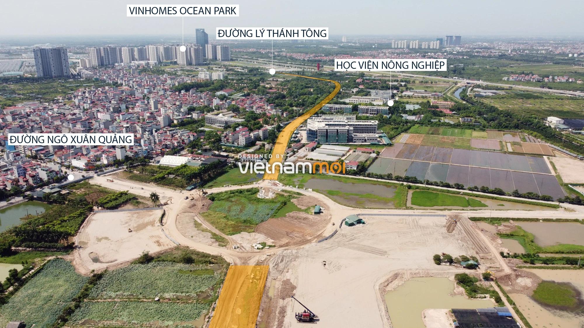 Toàn cảnh tuyến đường từ Vinhomes Ocean Park đến QL5 qua Học viện Nông nghiệp đang mở theo quy hoạch ở Hà Nội - Ảnh 7.