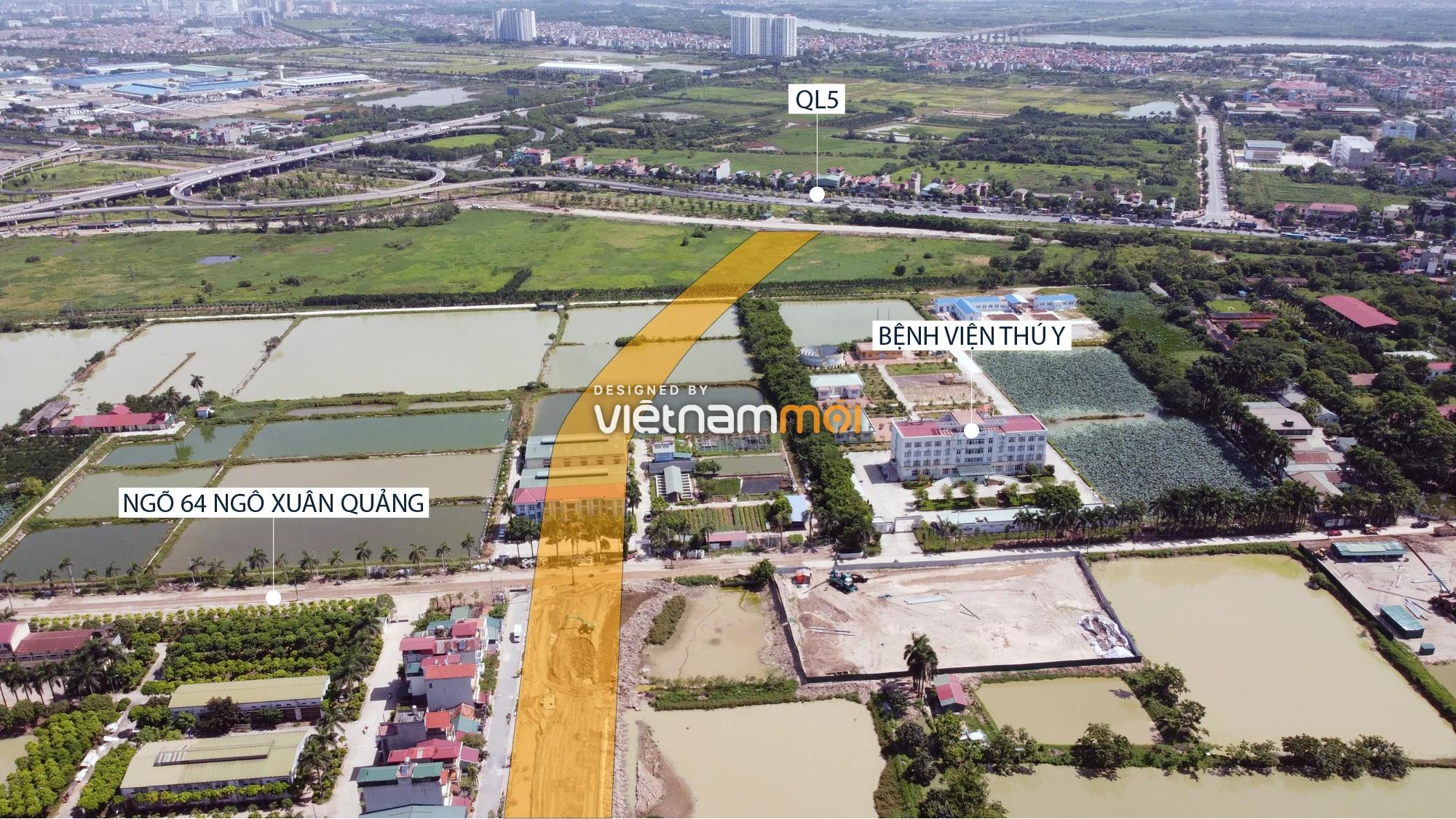 Toàn cảnh tuyến đường từ Vinhomes Ocean Park đến QL5 qua Học viện Nông nghiệp đang mở theo quy hoạch ở Hà Nội - Ảnh 15.
