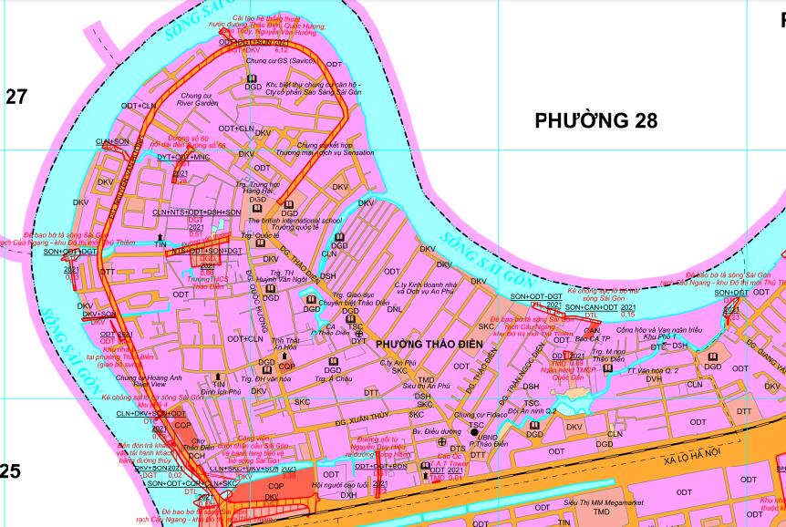 Kế hoạch sử dụng đất phường Thảo Điền, quận 2, TP Thủ Đức - Ảnh 2.