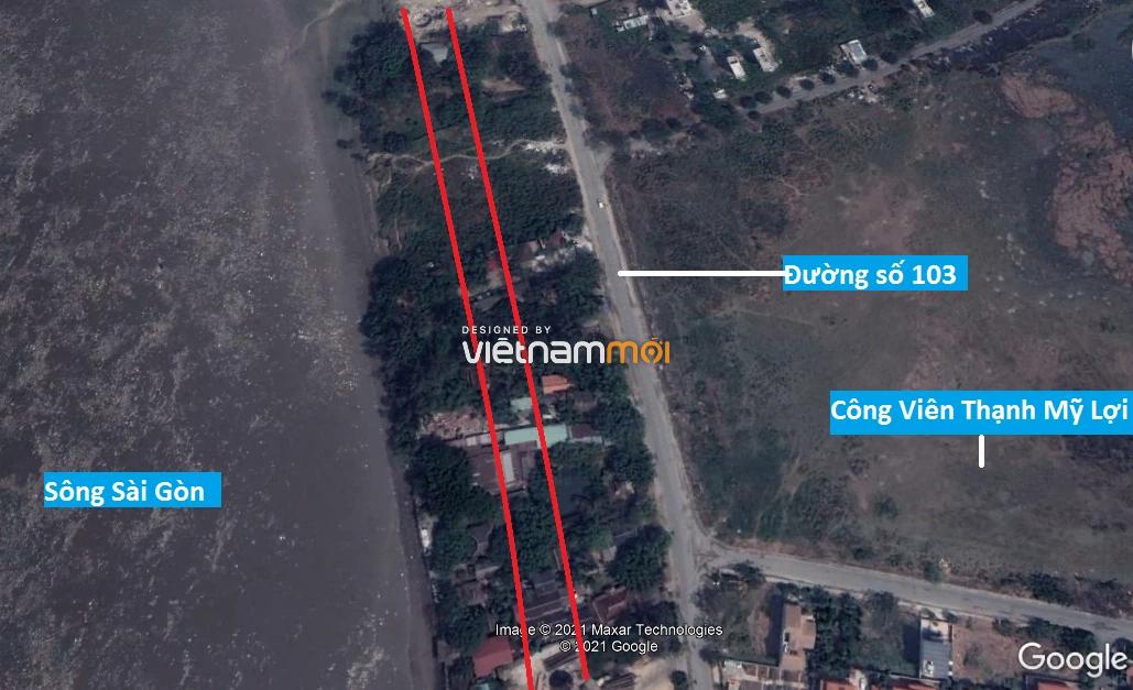 Đường sẽ mở theo quy hoạch ở phường Thạnh Mỹ Lợi, quận 2, Thủ Đức, TP HCM - Ảnh 3.