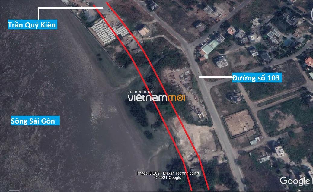 Đường sẽ mở theo quy hoạch ở phường Thạnh Mỹ Lợi, quận 2, Thủ Đức, TP HCM - Ảnh 2.