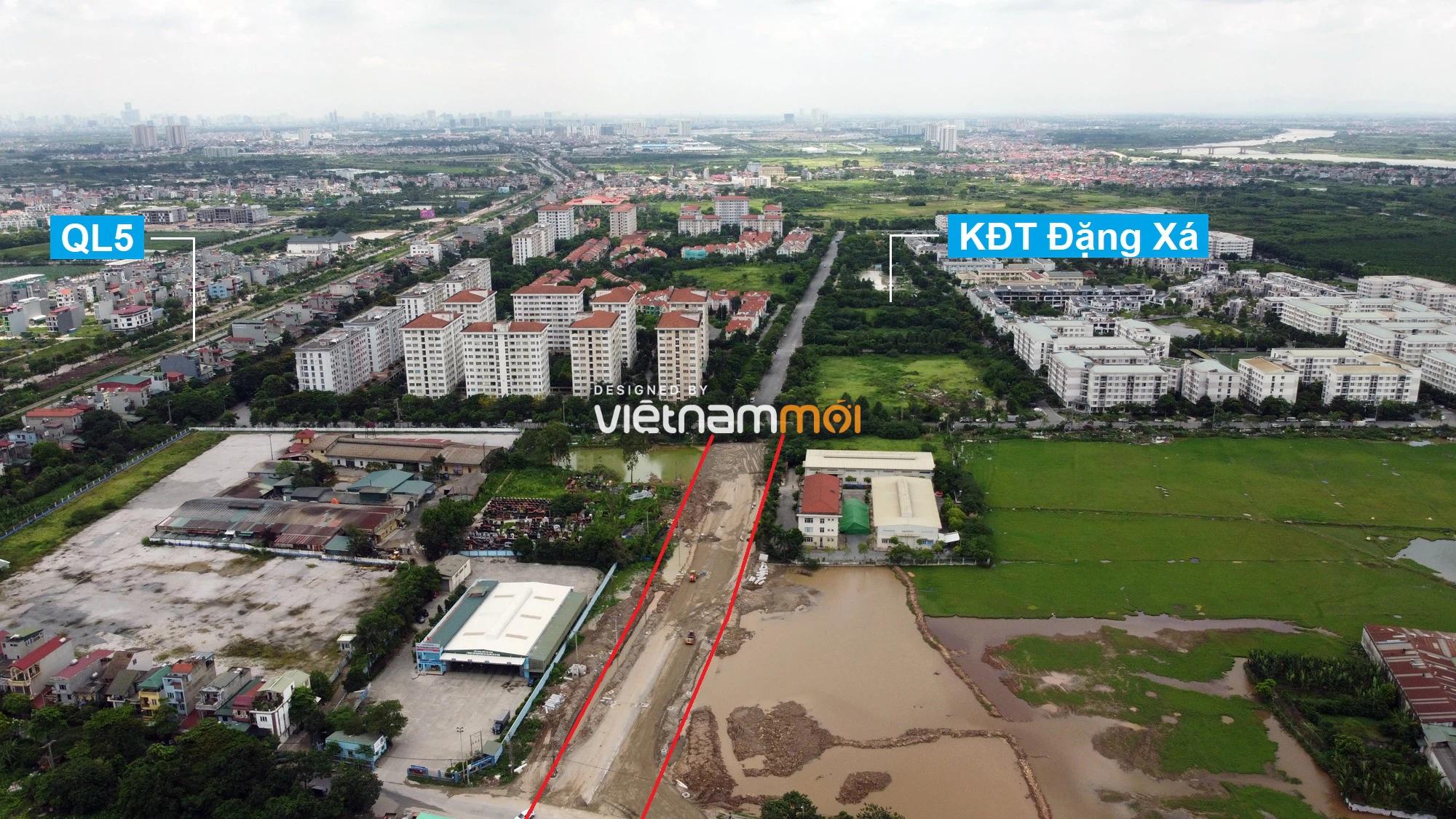 Toàn cảnh tuyến đường từ KĐT Đặng Xá đến chân cầu vượt Phú Thị đang mở theo quy hoạch ở Hà Nội - Ảnh 1.