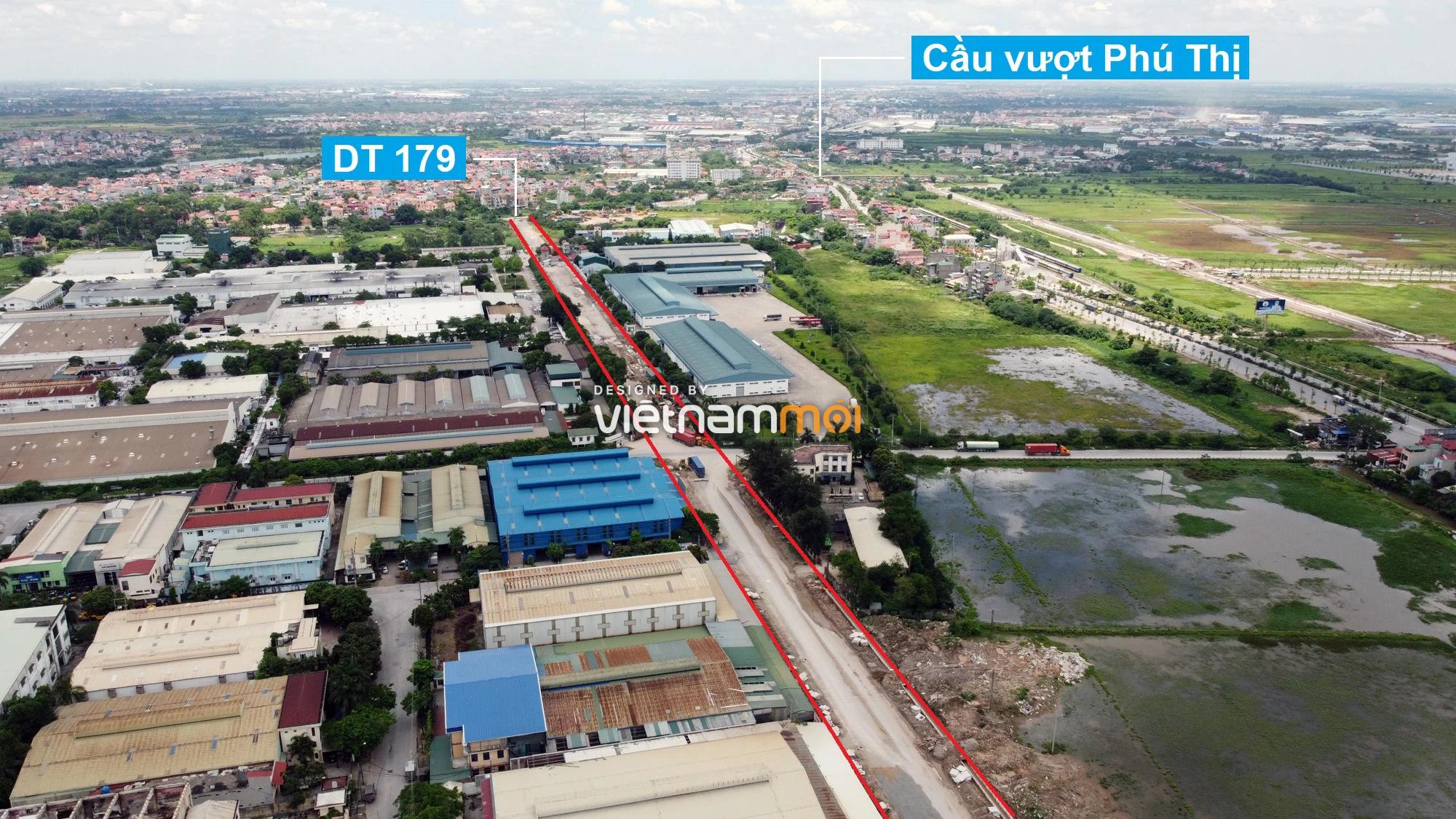 Toàn cảnh tuyến đường từ KĐT Đặng Xá đến chân cầu vượt Phú Thị đang mở theo quy hoạch ở Hà Nội - Ảnh 5.