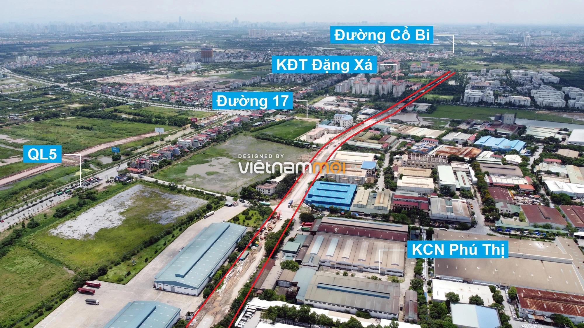 Toàn cảnh tuyến đường từ KĐT Đặng Xá đến chân cầu vượt Phú Thị đang mở theo quy hoạch ở Hà Nội - Ảnh 11.