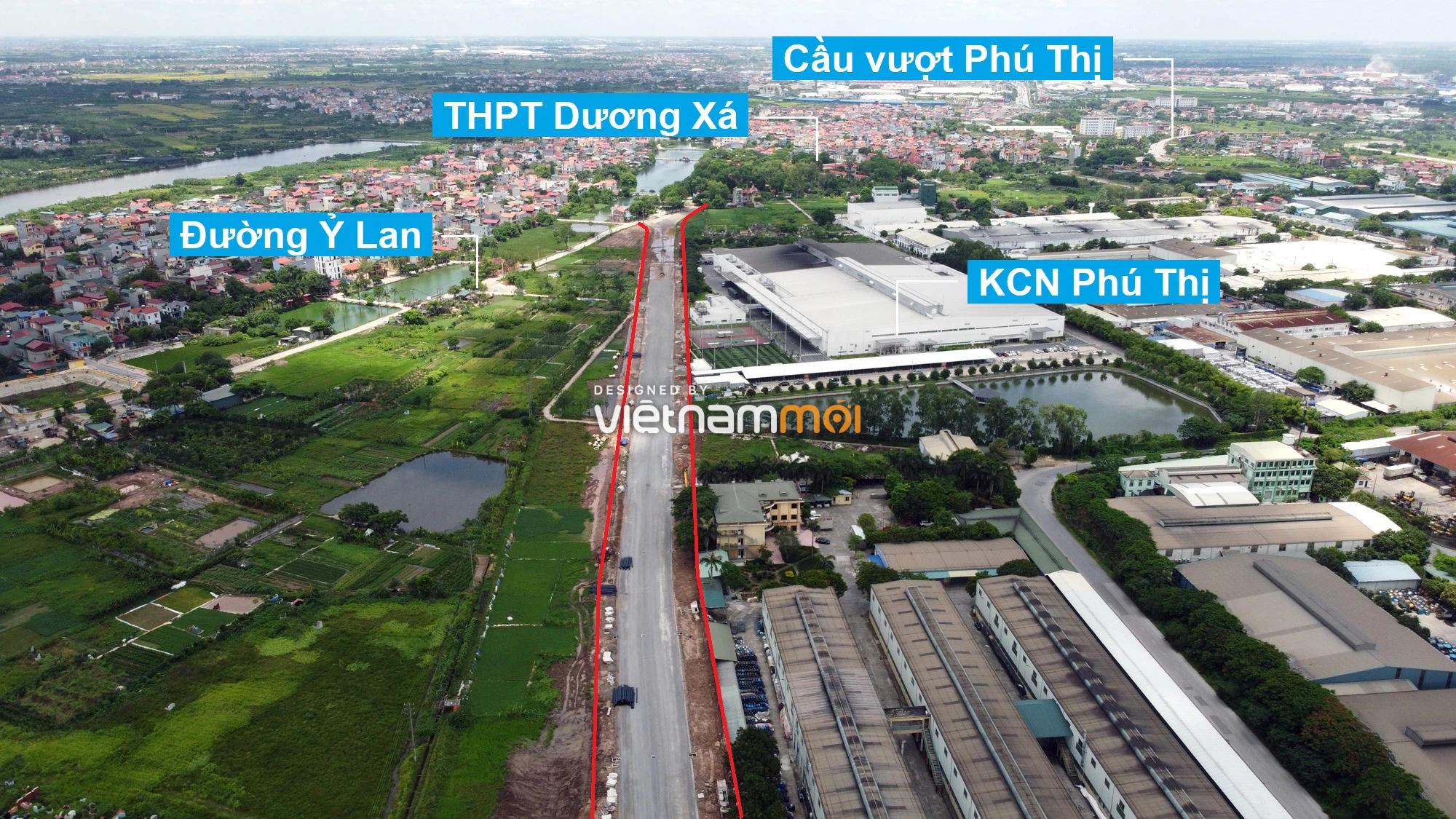Toàn cảnh tuyến đường từ KĐT Đặng Xá đến Ỷ Lan đang mở theo quy hoạch ở Hà Nội - Ảnh 4.