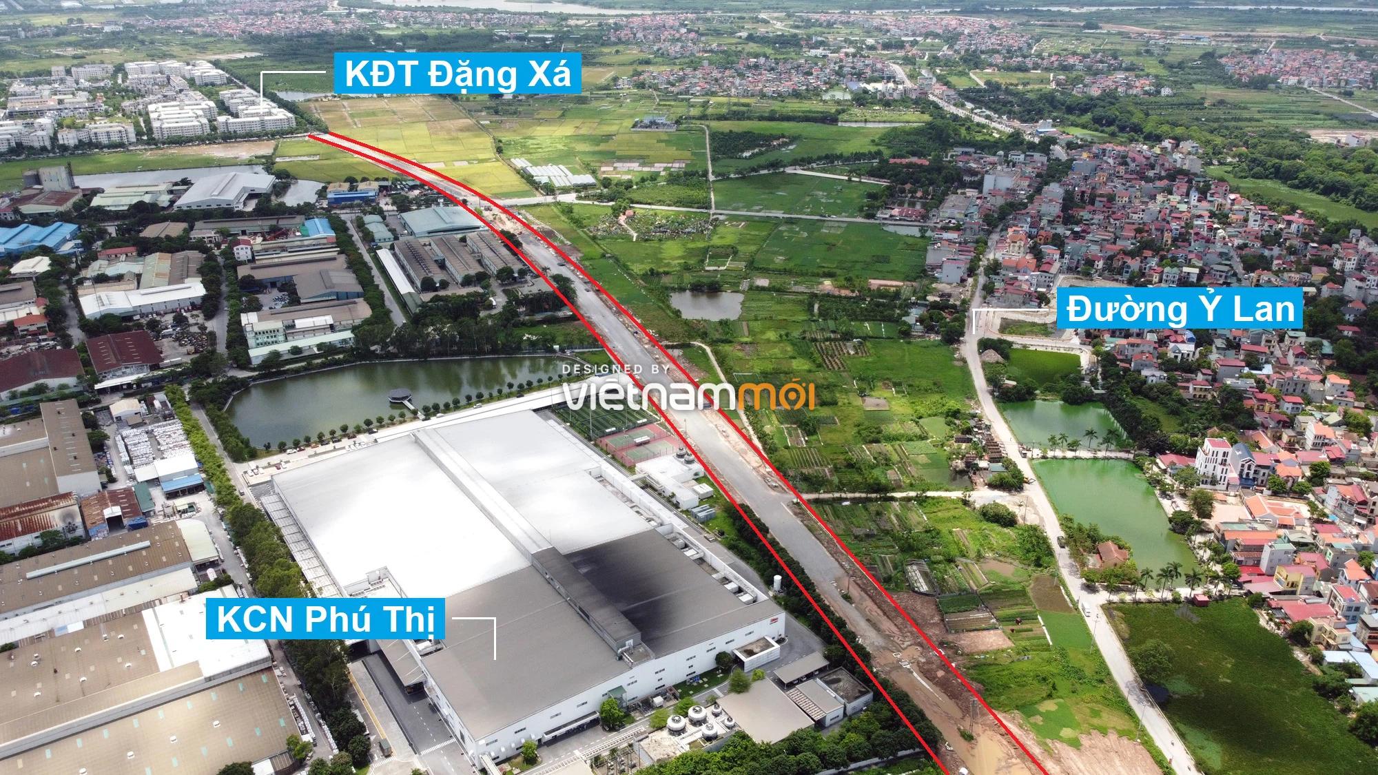 Toàn cảnh tuyến đường từ KĐT Đặng Xá đến Ỷ Lan đang mở theo quy hoạch ở Hà Nội - Ảnh 9.
