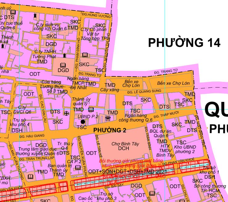 Kế hoạch sử dụng đất phường 2, quận 6, TP HCM - Ảnh 2.