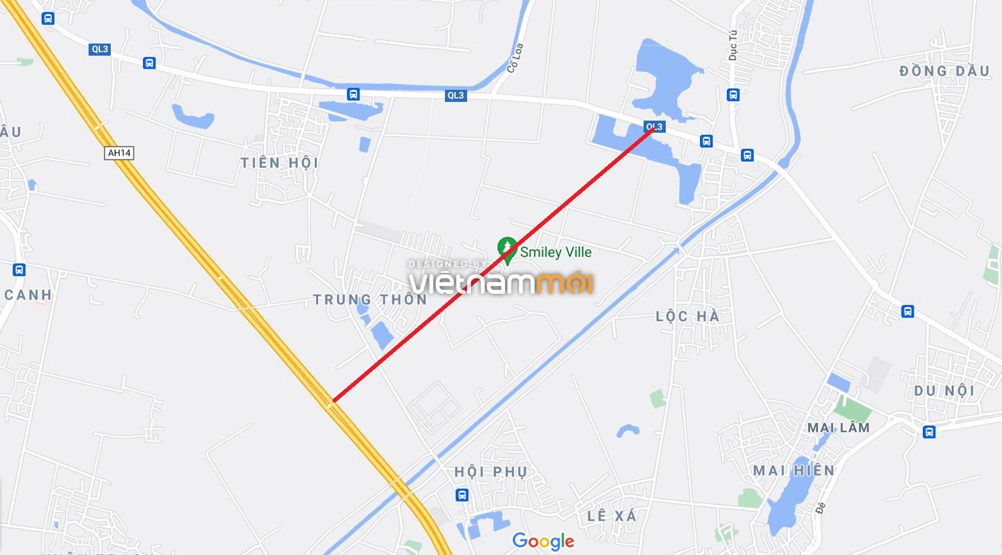 Đường sẽ mở theo quy hoạch xung quanh khu đô thị Vinhomes Cổ Loa (phần 2) - Ảnh 1.