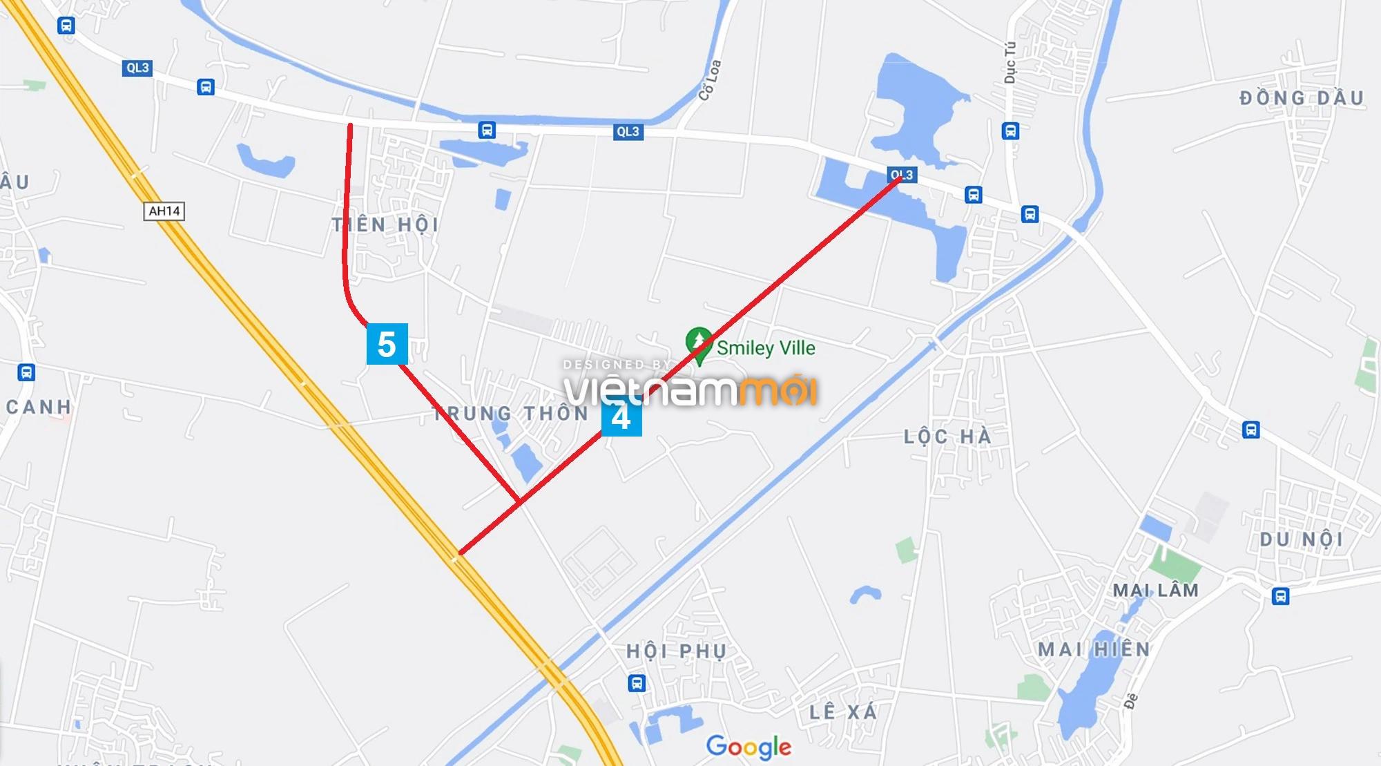 Đường sẽ mở theo quy hoạch xung quanh khu đô thị Vinhomes Cổ Loa (phần 2) - Ảnh 6.