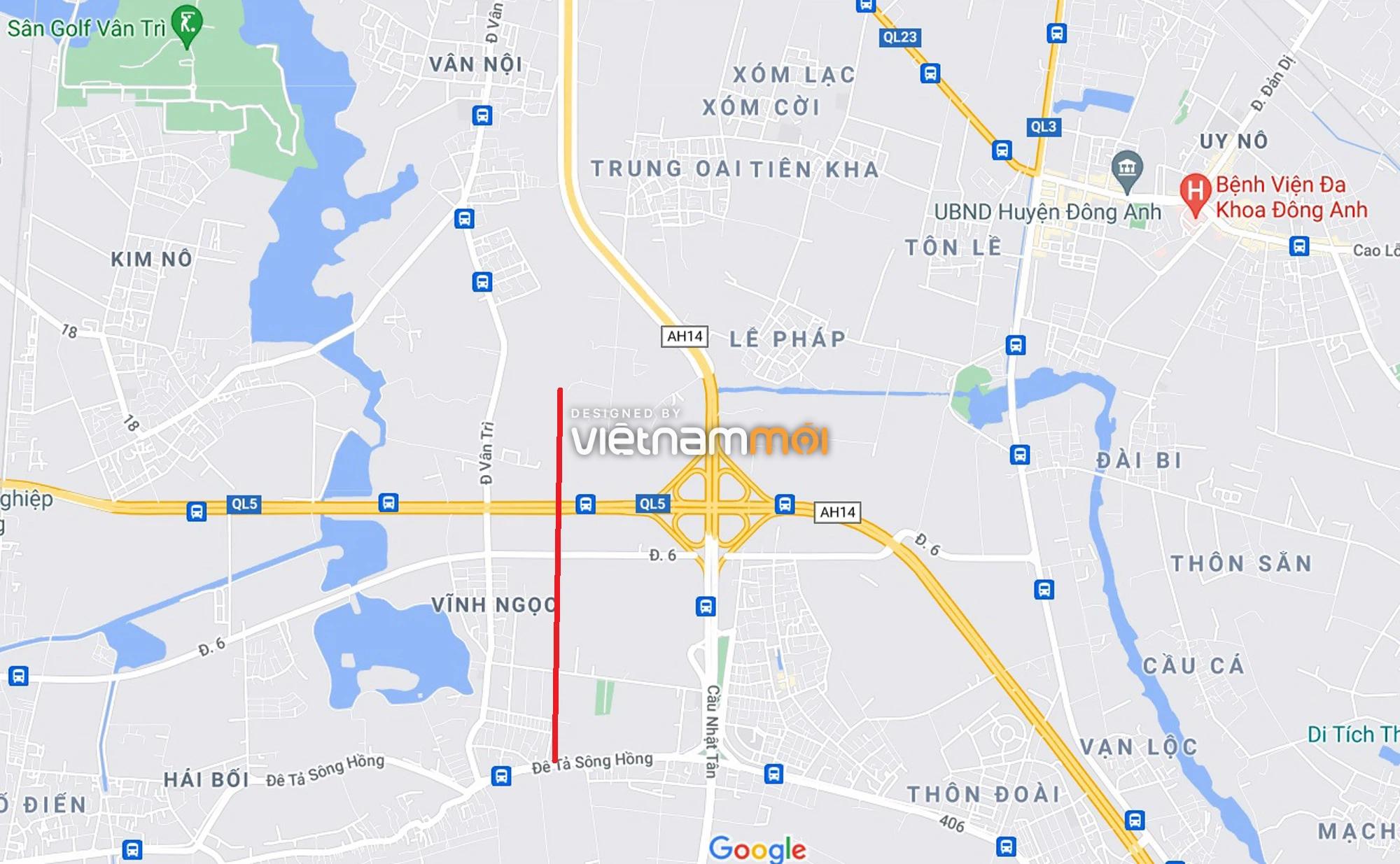 Đường sẽ mở theo quy hoạch xung quanh dự án Thành phố Thông minh Bắc Hà Nội (phần 1) - Ảnh 1.
