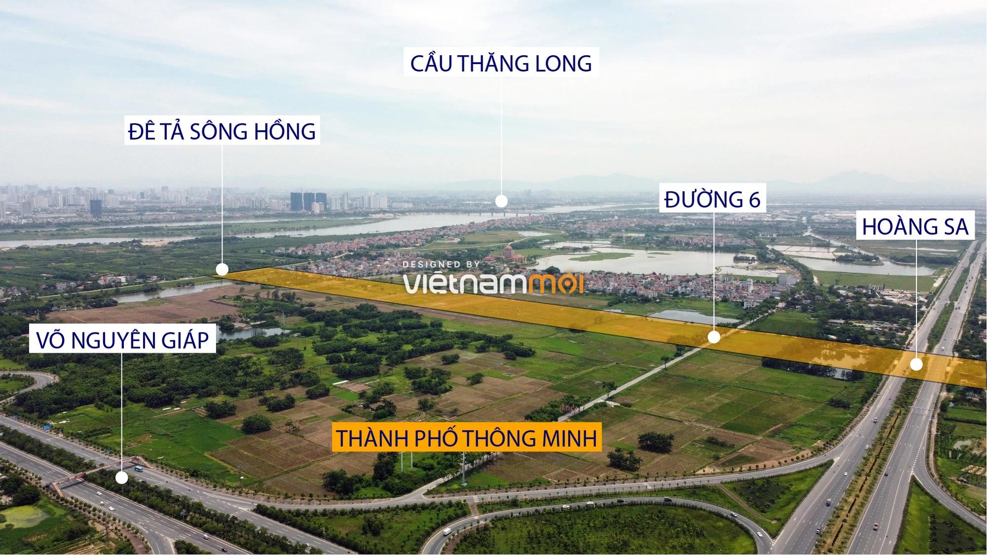 Đường sẽ mở theo quy hoạch xung quanh dự án Thành phố Thông minh Bắc Hà Nội (phần 1) - Ảnh 3.