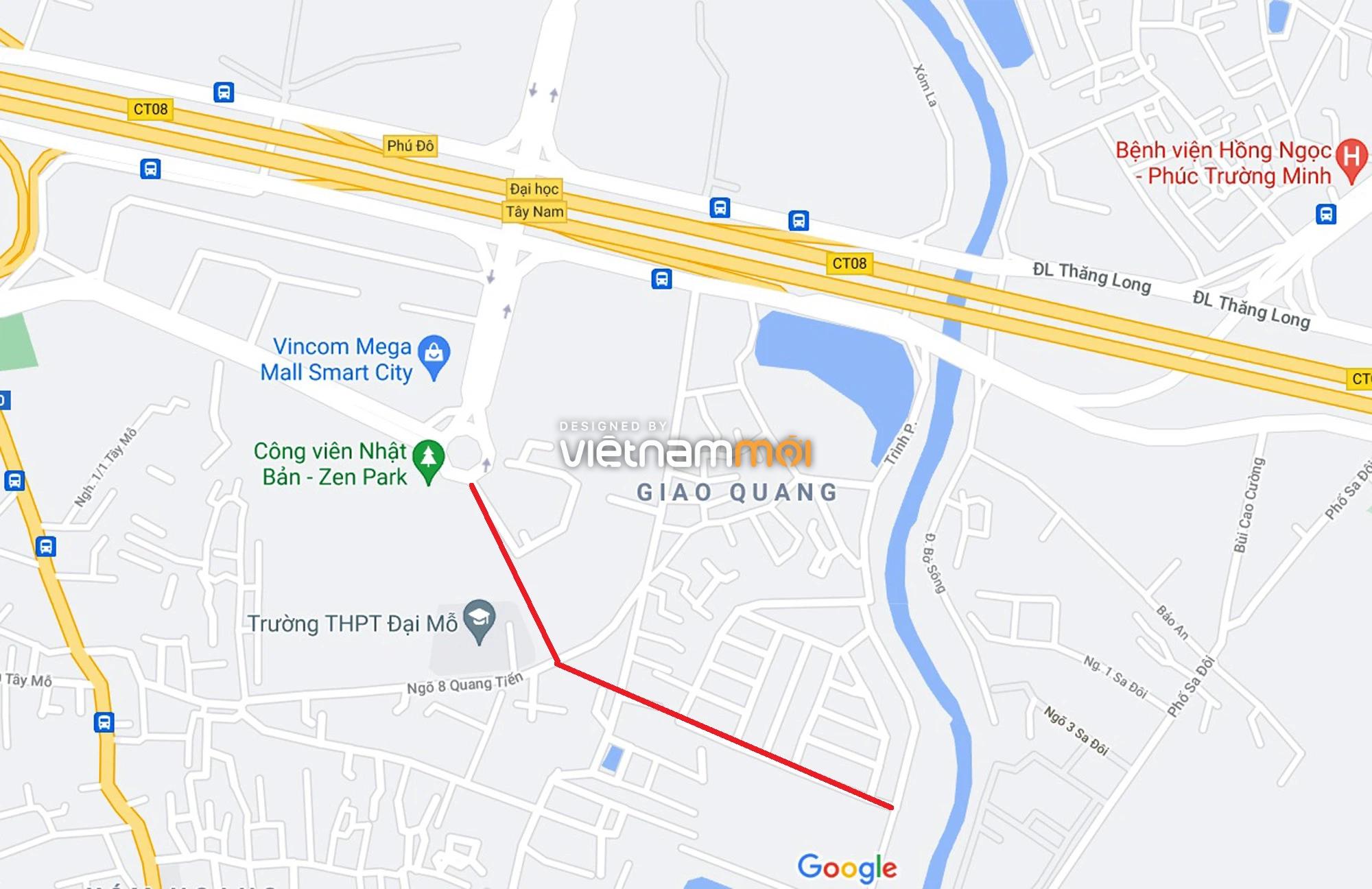 Đường sẽ mở theo quy hoạch xung quanh khu đô thị Vinhomes Smart City (phần 3) - Ảnh 10.