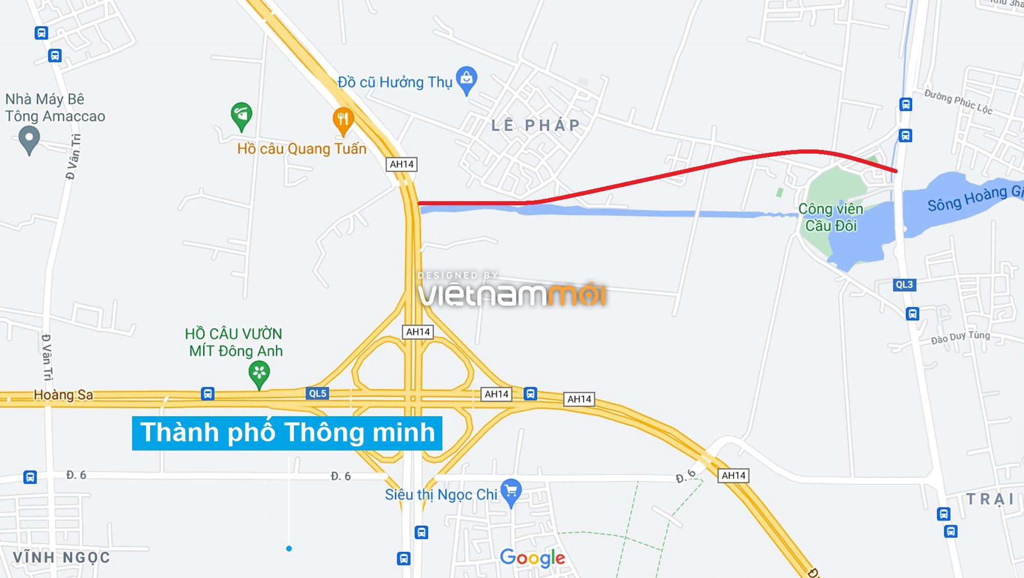 Đường sẽ mở theo quy hoạch xung quanh dự án Thành phố Thông minh Bắc Hà Nội (phần 2) - Ảnh 1.