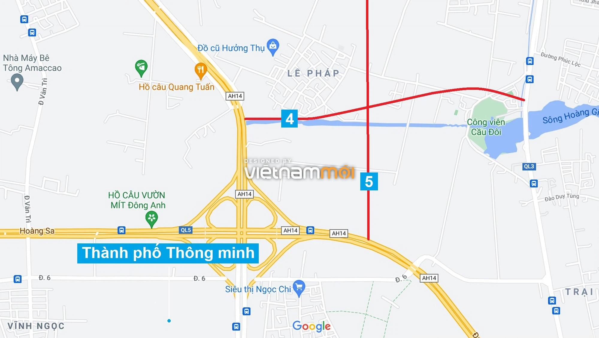 Đường sẽ mở theo quy hoạch xung quanh dự án Thành phố Thông minh Bắc Hà Nội (phần 2) - Ảnh 7.