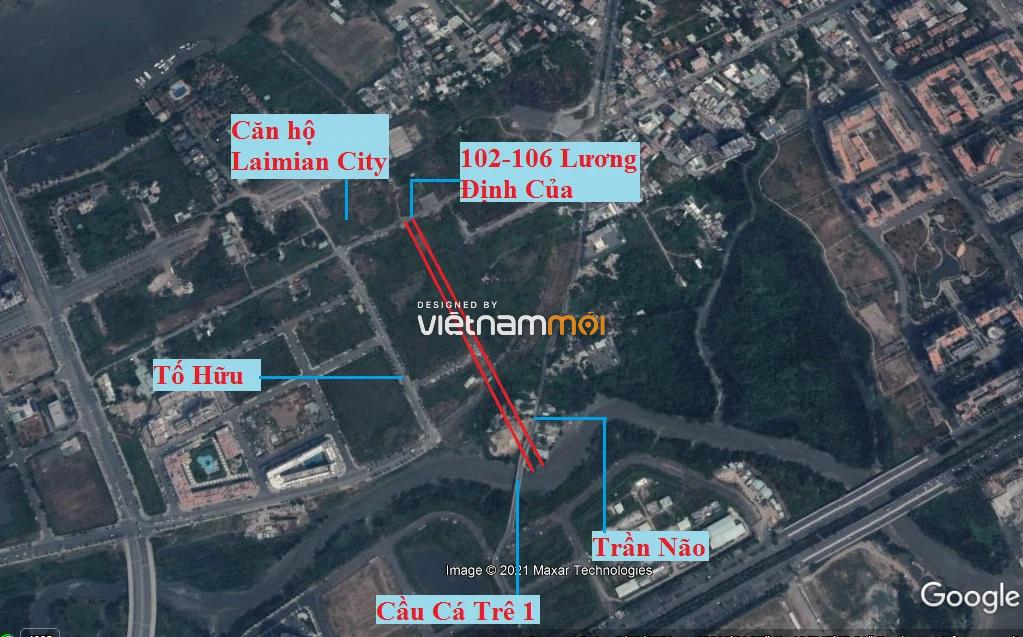 Đường sẽ mở theo quy hoạch ở phường Bình Khánh (cũ), quận 2, Thủ Đức, TP HCM (phần 1) - Ảnh 2.