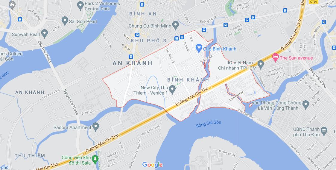 Đường sẽ mở theo quy hoạch ở phường Bình Khánh (cũ), quận 2, Thủ Đức, TP HCM (phần 1) - Ảnh 1.