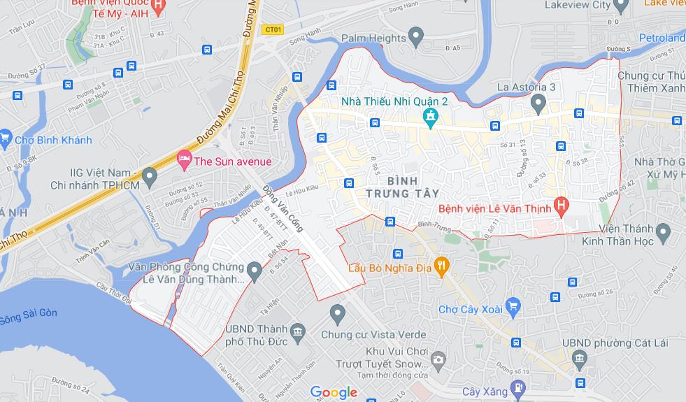 Đường sẽ mở theo quy hoạch ở phường Bình Trưng Tây, quận 2, Thủ Đức, TP HCM - Ảnh 1.