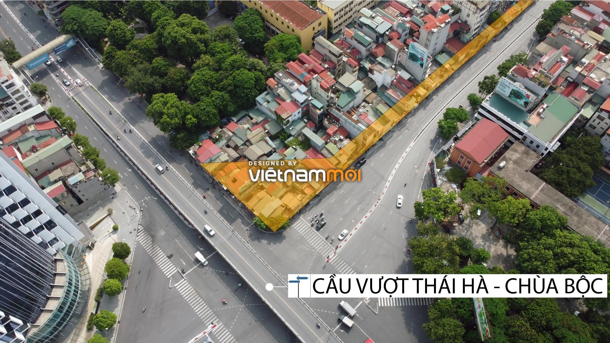 Cận cảnh khu vực thu hồi đất để hoàn thiện nút giao Chùa Bộc - Thái Hà - Ảnh 3.